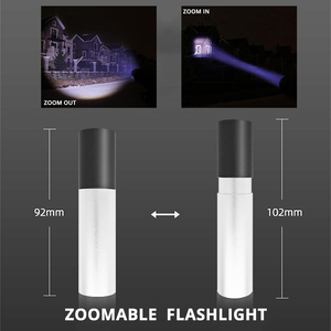 Image 4 - USB Rechargable Mini LED Flashlight 3 Lighting Mode Waterproof Torch  Telescopic Zoom Stylish Portable Suit for Night Lighting