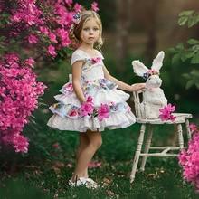 цены на Girl Dress Summer Print Frocks Prom Dresses Girls Lace Clothing Girls Cotton Girl Child Kids Summer Dress Teenage Clothing  в интернет-магазинах