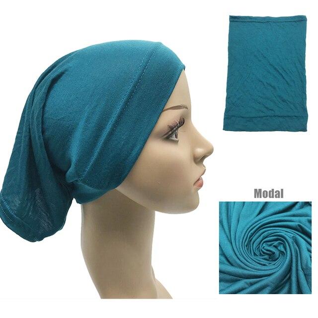1 adet sıcak satış müslüman iç başörtüsü kadınlar başörtüsü streç elastik Underscarf islam iç kapaklar tüp eşarp