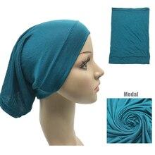 1 sztuk gorąca sprzedaż muzułmańska wewnętrzna chustka na głowę kobiety hidżab Stretch elastyczna Underscarf islamska wewnętrzna czapki komin
