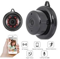 WIFI ミニカメラ 1080P 960 1080P P2P ワイヤレスベビーモニターミニカム赤外線ナイトビジョンモーション検出 SD カードスロットオーディオアプリ