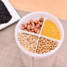 Multi-functional Compartment Transparent Sealed Cans Cereals  food Storage Box Kitchen Seasoning Supplies 20
