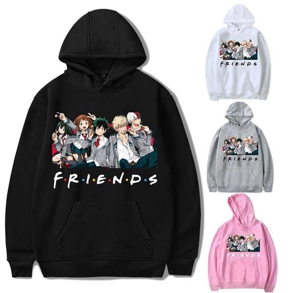 Permalink to Oversized Hoodie Sweatshirt Women Men My Hero Academia Friends Polerone Bluza Damska Korean Clothes Streetwear Sweatshirt Tops