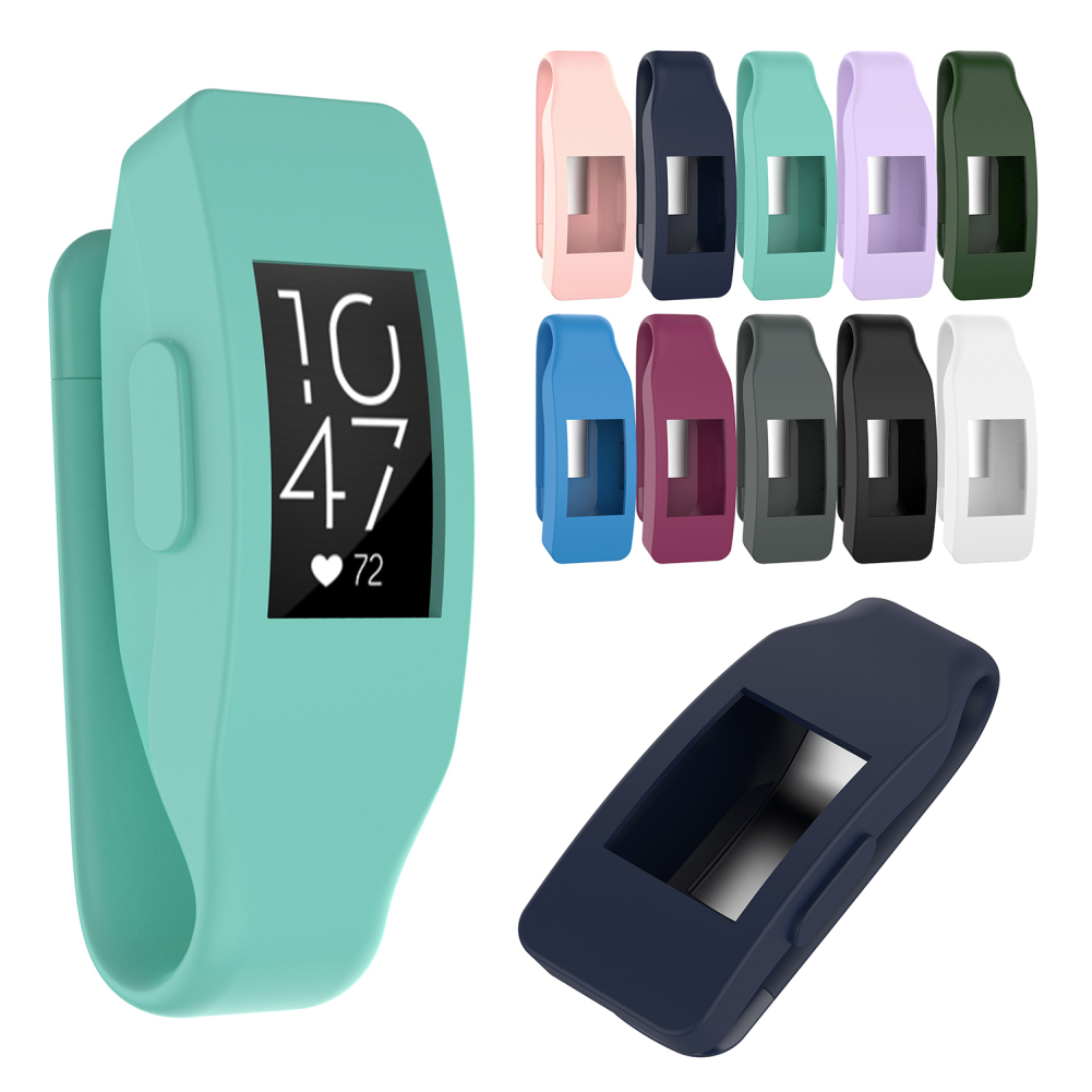 New Universal Steel Clip Protector Holder Silicone Protective Case Clip For Fitbit Inspire Inspire HR