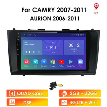 2din Android 9.1 Car Radio GPS Navigation For Toyota Camry 40 50 2007 2008 2009 2010 2011 Car Multimedia Player Autoradio Stereo image