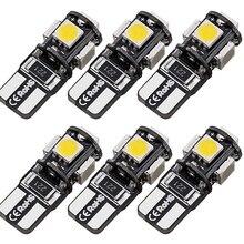 Set 5 SMD T10 Led light Indoor Canbus Car Gap Side Tail Parking Lamp Bulb 168 indicatore di direzione 6pcs bianco 12V 5W 12*30mm
