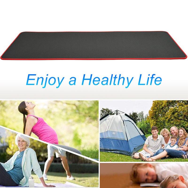 10mm Yoga Mat Extra Thick 1830*610mm NRB Non-slip Pillow Mat For Men Women Fitness Tasteless Gym Exercise Pads Pilates Yoga Mat 2