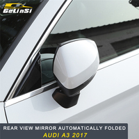 GELINSI for Audi A3 2017 2019 Car Styling Replacement Rearview Mirror Covers Automatically Folded Exterior Auto Parts