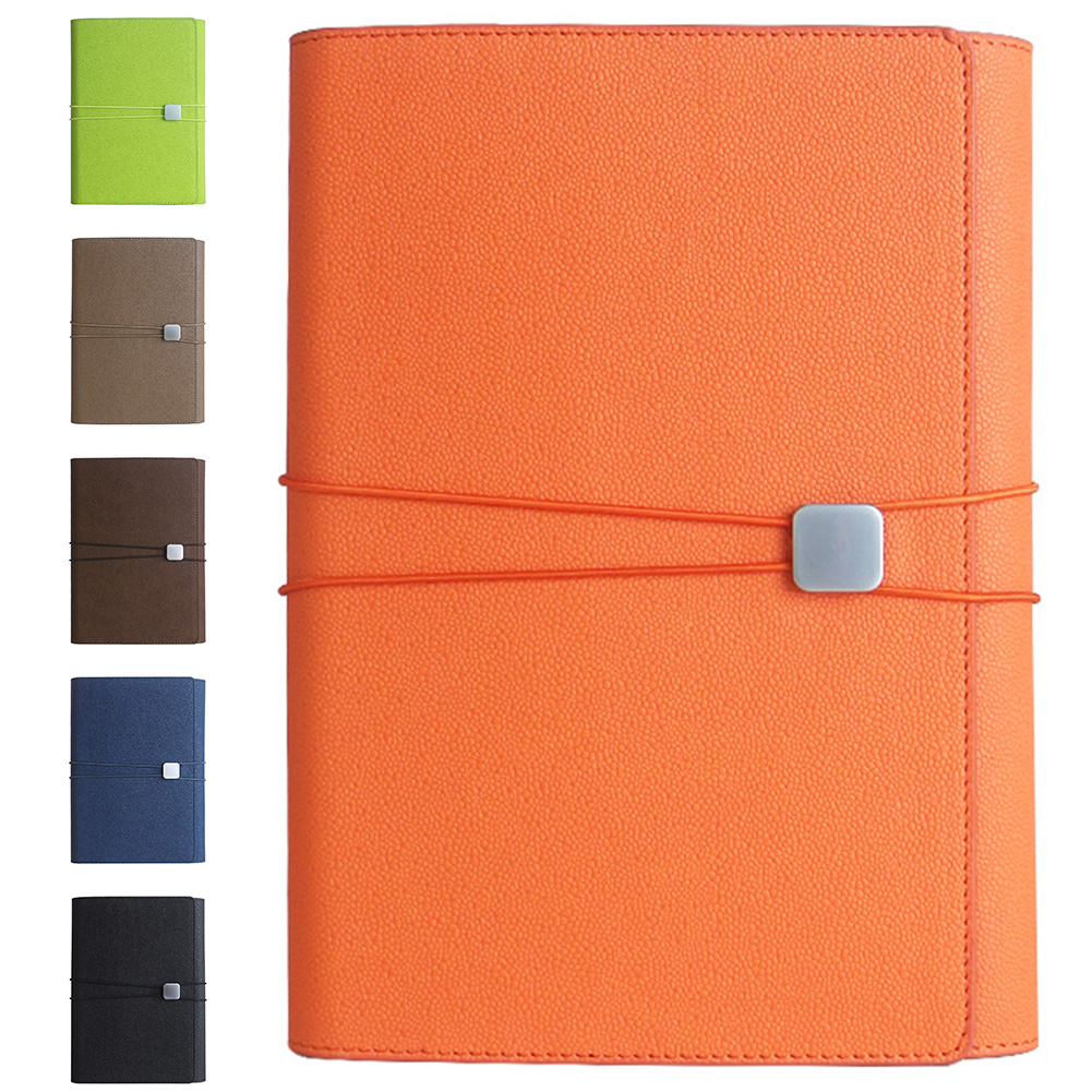 A5 90 Pages Organizer Office Planner Calendar Phone Pocket Three-fold PU Leather Notebook Thicken Personal Diary Coil Bindin #5