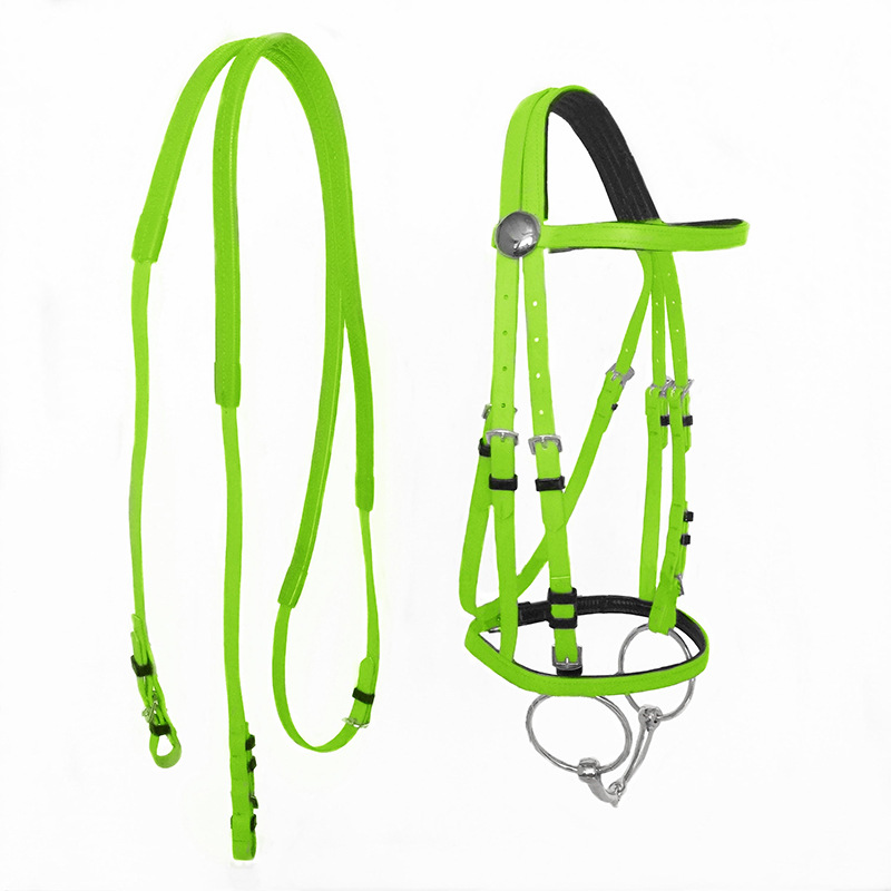 Horse Bridle Horse Lead Rein Thickened Halter Equestrian Accessories Removable Webbing Horse Riding Equipment Halters BG50HH