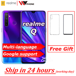 Перейти на Алиэкспресс и купить realme q global not relme 5 pro 6.3inch moblie phone snapdragon 712aie octa core 48mp cellphone vooc 20w fast charger