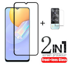 Cobertura completa de vidro para vivo y31 vidro para vivo y31 vidro temperado flim protetor de tela protetora para vivo y31 lente vidro 6.58