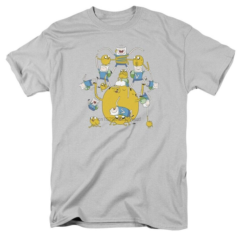 ADVENTURE TIME FINN AND JAKE Short Sleeve Novelty T-Shirt  White