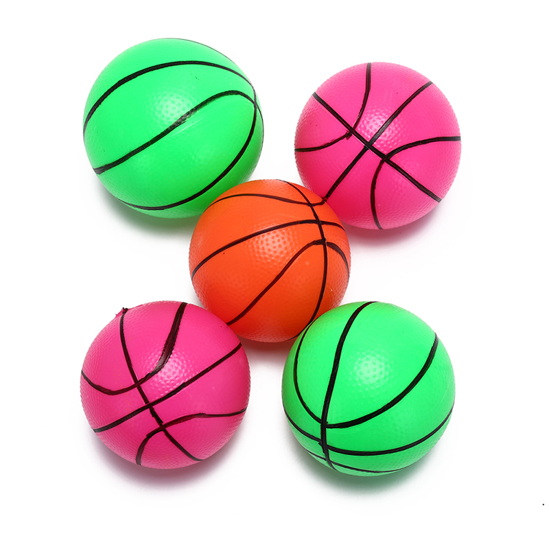 1 PC 12cm Inflatable PVC Basketball volleyball beach ball Kid Adult sports Toy Random Color 1