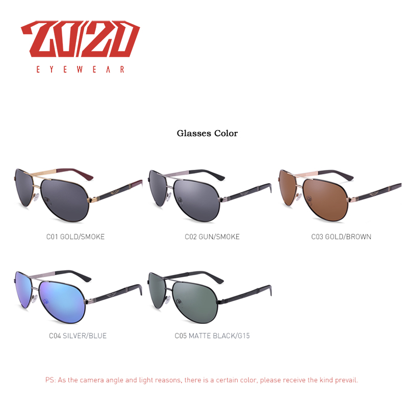 20/20 New Vintage Metal Polarized Sunglasses Classic Brand Sun glasses Coating Lens Driving Fishing Outdoor Shades oculo AK17131 1