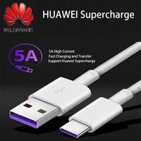 Original Huawei Aufzurüsten Super Ladegerät USB 5A Typ C Kabel P40 P30 Pro Mate 30 20 Pro P10 Honor20 30 v30 USB 3,1 Typ-C Kabel