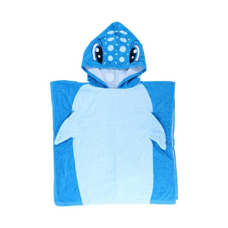 Pure Cotton Children Printed Mantle Cloak Infant Cartoon Hooded Bath Towel Mantle Hooded