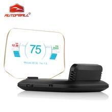 Новейший дисплей OBD Автомобильная электроника HUD Дисплей автомобильные спидометры Предупреждение 1 предупреждение о превышении скорости OBD2+ gps двойной режим gps Спидометр