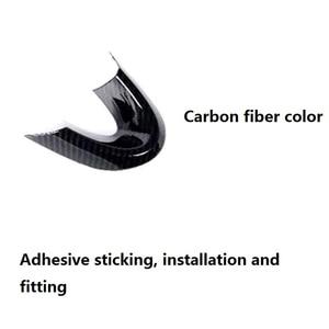 Image 3 - 미니 쿠퍼 F54 F55 F56 F57 F60 탄소 섬유 스타일 자동 인테리어 액세서리에 대 한 3Pcs 자동차 스티어링 휠 커버 트림