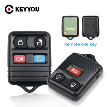 KEYYOU 315MHZ Remote Control Fob 3/4 Buttons Key Shell For Ford Focus Escape Explorer Taurus 1998-2010 Car Key Transmitter image