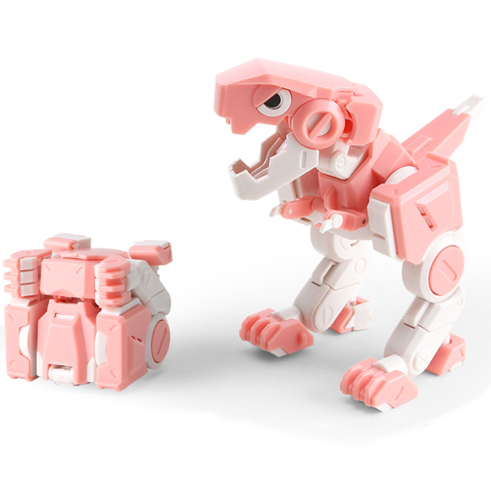 Deformable Dinosaur Model Funny Kids <font><b>Toy</b></font> Gift <font><b>Transformation</b></font> Cube Folding Robot Movable Action Figures Joints Collection image