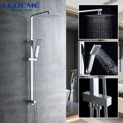 LEDEME Набор для ванны и душа, настенный смеситель для душа, кран для ванной комнаты, кран для ванны, смеситель для водопада, набор Torneira L2416