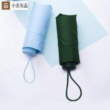 2 צבעים Youpin Umbracella מותג סיבי Ultralight שמש גשום מטרייה בחום Windproof מטרייה קטן במיוחד נייד מטרייה