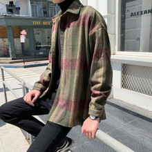 Jacket Male Loose Korean Version Of The Trend Students Woolen Shirt Autumn Handsome Hong Kong Style Casual Mens Lovers