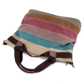 Women Shoulder Handbag bags Girls Sling Bag Female Shoulder Top-handle Bags Bolsa Feminina 2019 colour stripe canvas tote bag