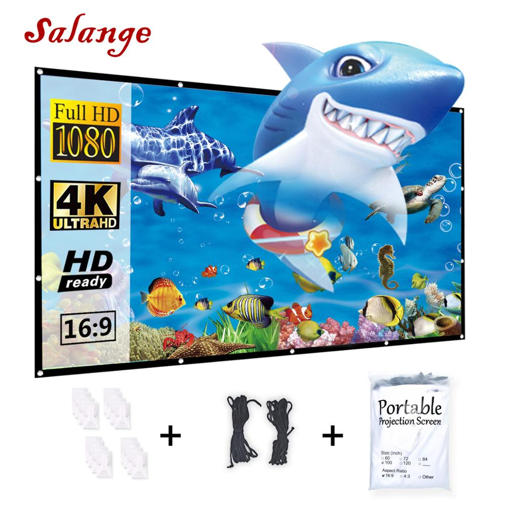 Salange Projector-Screen 150inch Outdoor Home Theater Foldable White 84 Yes 60-72 100-120