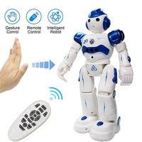 Rc brinquedo inteligente mão gesto sensor de controle remoto robô programação inteligente crianças presente aniversário do bebê brinquedos educativos