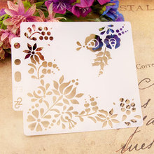 Flower DIY Layering Stencils Wall Painting Scrapbooking Coloring Embossing Crafts Album Decorative Paper Card Template Tools cup coffee flower sticker painting stencils for diy scrapbooking stamps home decor paper card template decoration album crafts