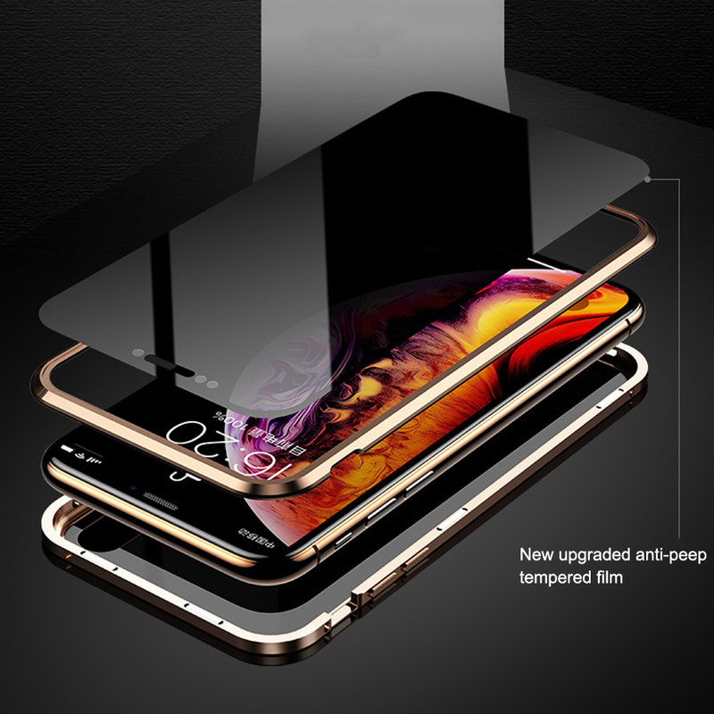 Image 3 - Double sided glass Magnetic Adsorption Phone Case for iPhone XS MAX X XR Case Metal Magnet Cover 360 Full Protection  Phone Case-in Fitted Cases from Cellphones & Telecommunications
