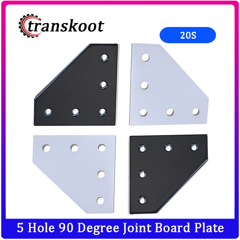 New 5 Hole 90 Degree Joint Board Plate Corner Angle Bracket Connection Joint Strip For 2020 Aluminum Profile 3D Printer Frame