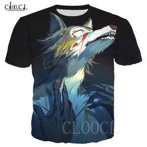 Image 1 - BEASTARS קריקטורה אנימה לבן חולצה חולצות סוודרי 3D זאב בעלי החיים מודפס גברים/נשים טי חולצה Harajuku גדול T חולצה