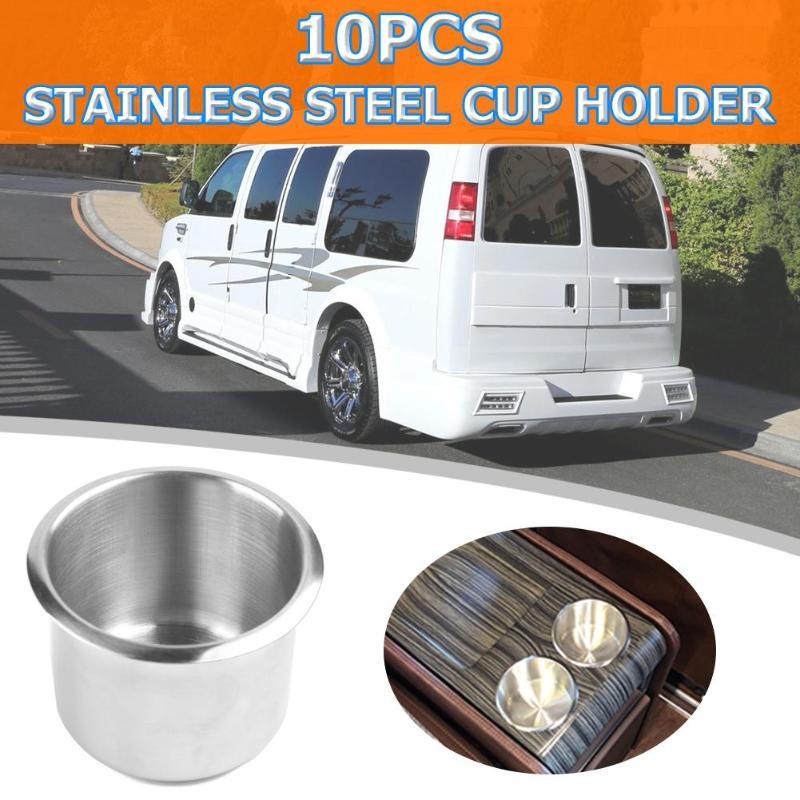4 Pcs 68mm Stainless Steel Car Boat Motorhome Cup Drink Bottle Holder Universal