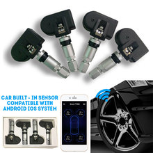 Tire Pressure Detector 4 Internal Sensors Universal TPMS Car Bluetooth TPMS Stable Mobile Phone APP Detection for Android/IOS