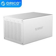 ORICO Honeycomb serii 3.5 cal 5 Bay USB3.0 obudowa dysku twardego ze stopu aluminium, wsparcie pojemność do 50TB, pojedynczy dysk 10TB
