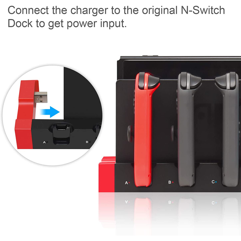 Switch Joy Con Controller Charger Dock Stand Station Holder for Nintendo Switch NS Joy-Con Game Support Dock for Charging 2