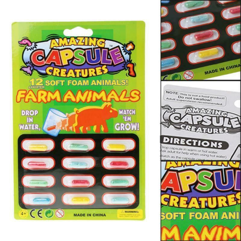 Juguetes cognitivos educativos para bebé, cápsulas de cultivo divertidas, juguetes de animales de dibujos animados más grandes en agua, novedad