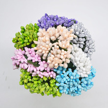 12/72pcs Handcraft Artificial Flower Stamen Wire Stem for Wedding Party Box Decoration DIY Wreath Gift Fake Flowers