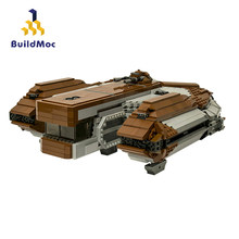 BuildMoc-arma espacial de la película Star, SW: caballeros de la antigua República, Ebon Hawk, clase dinámica, bloques para construir una nave espacial, Juguetes