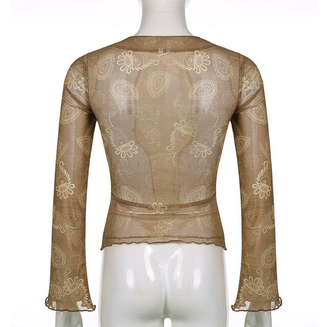 Khaki vintage cropped top t-shirt