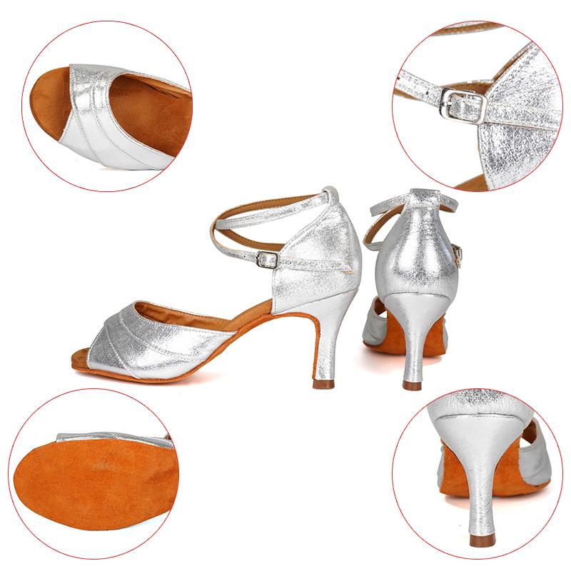 Hipposeus Girls Dance Shoes Ballroom Women Latin Dance Shoes Ladies Samba Shoe Tango Dancing Shoes Samba Salsa Sandals Wholesale