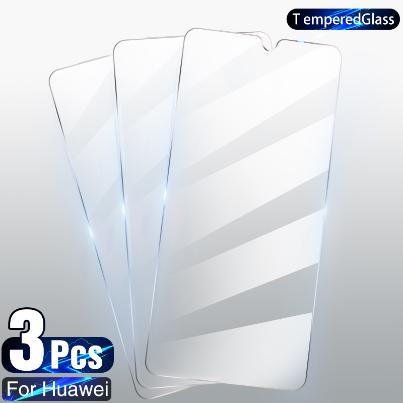 3Pcs Tempered Glass For Huawei P30 P40 Lite P20 Pro P10 P Smart 2019 Screen Protector Glass For Huawei Mate 30 20 Lite P30 Film Phone Screen Protectors  - AliExpress
