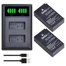 2 batteries EN-EL20 EN EL20 EN EL20a + double chargeur LED, Port de Type C pour Nikon Coolpix P1000 Nikon1 J1, J2, J3 Nikon1 AW1 1 S1