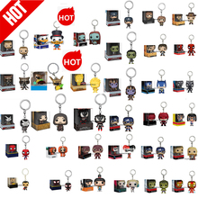POP Keychain  withbox Black Panther WEASLEY TIKI STITCH Captain America Venom  Shield  Mask Key Ring Wholesale