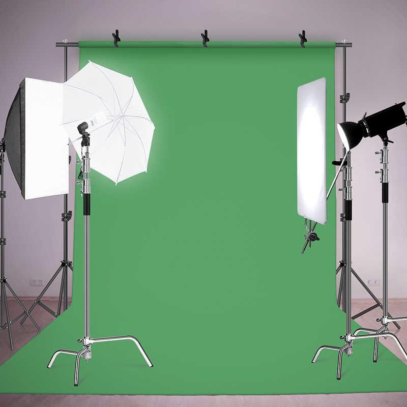 Vendita calda di Colore Verde di Cotone Non-inquinanti Tessile Mussola Foto Sfondi di Studio Photography Chromakey Schermo Sfondo di Stoffa