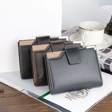 2019 New Men Vertical Wallet Multifunction Leather Coin Purse Large Capacity Credit Card Holder