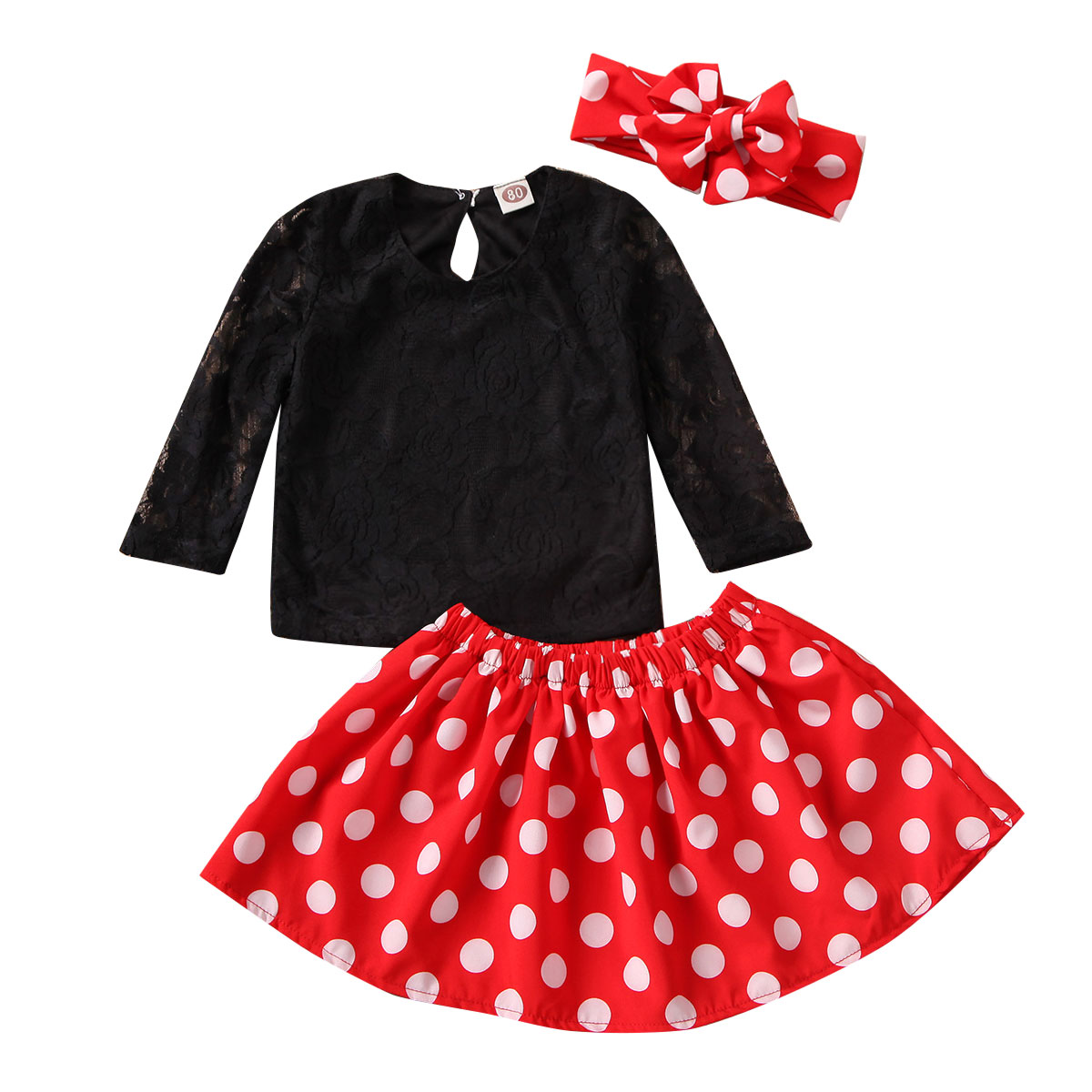 Hole Trousers Set Toddler Baby Girl Off Shoulder Wrapped Chest Trumpet Sleeve